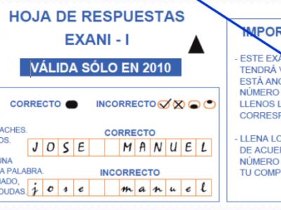 Tutorial instrucciones para el correcto llenado de la hoja de respuestas del EXANI-I