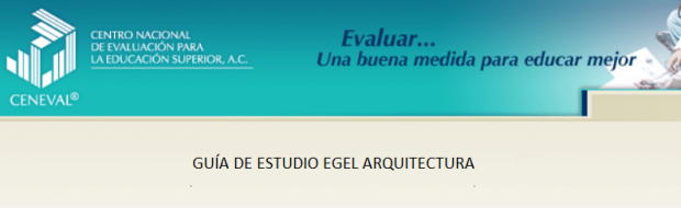 Descarga gratis la guia del EGEL ARQUI (Arquitectura)