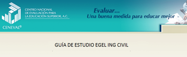 Descarga gratis la guia del EGEL ICIVIL (Ingenieria Civil)