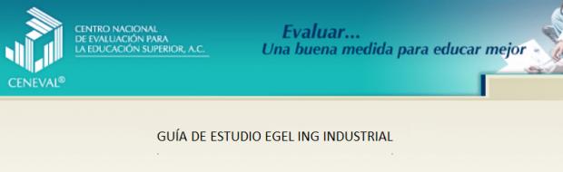 Descarga gratis la guía del EGEL IINDU (Ingeniería Industrial)