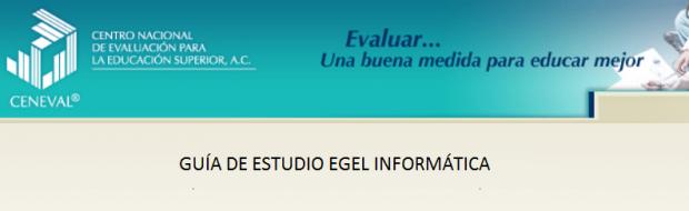 Descarga gratis la guia del EGEL INFO (Lic en Informatica)