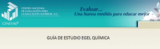 Descarga gratis la guia del EGEL QUIM (Quimica)