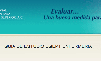 Descarga la guía EGEPT-ENFER (Profesional Técnico en Enfermería)