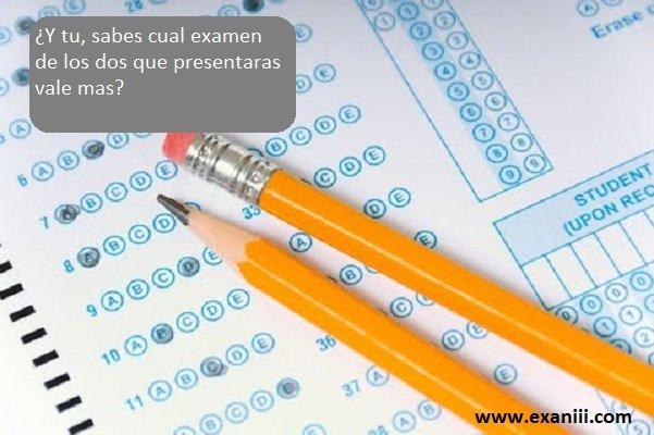 ¿Cual vale mas, el examen de seleccion o el examen de diagnostico?