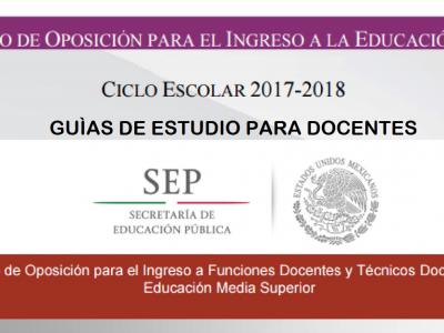 Descarga la guía de estudio para docentes (concurso de oposición)