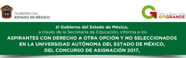Aspirantes Con Derecho a Otra Opción CDO EDOMEX