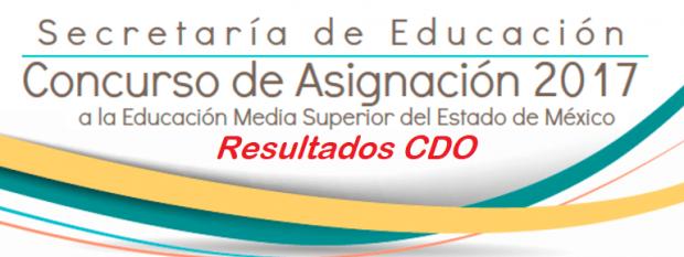 Resultados Aspirantes Con Derecho a Otra Opción CDO EDOMEX