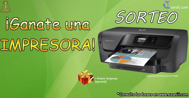 "Bases del Sorteo ""Primer Aniversario Exaniii"""