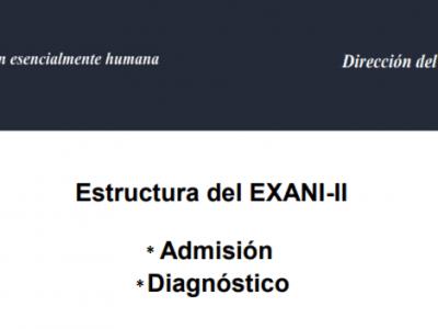 Temario del examen EXANI II 2020
